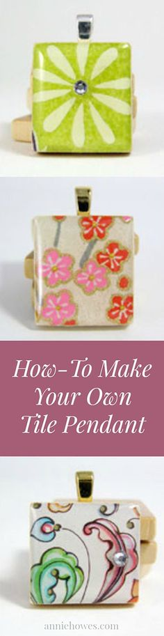 How to make your own tile pendant with resin.