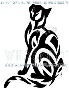 diseños de tatuajes 2019 Learn more about ** Tribal Brief-Haired Cat Design by WildSpiritWolf on deviantA. Tribal Tattoos, Tribal Drawings, Trendy Tattoos, Bat Tattoos, Wing Tattoos, Tatoos, Arte Tribal, Tribal Art, Cat Moon