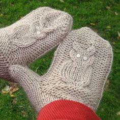 Owl mittens knitting pattern free - Providence knitting | Examiner.com