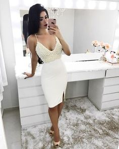Sexy Homecoming Dresses With Beading Slit Sheath Sparkly Prom Dress Party Dress Cocktail Dresses Teen Homecoming Dresses, Cheap Short Prom Dresses, Junior Party Dresses, Prom Party Dresses, Sexy Dresses, Party Gowns, Pageant Dresses, Occasion Dresses, Wedding Gowns