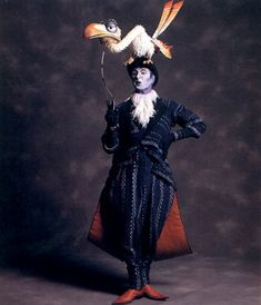 Disney The Lion King Broadway Zazu as he appears on stage. He has an Edwardian feel as appropriate to the royal hierarchy set up in the plot. Not to mention original voice actor Rowan Atkinson's roots.