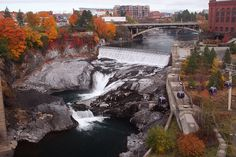 spokane Falls, Spokane washington - this makes me think of Kacy. The Places Youll Go, Great Places, Places To See, Beautiful Places, Amazing Places, Spokane Washington, Washington State, Spokane Falls, Evergreen State