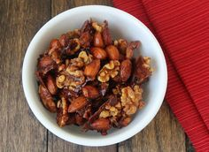 Sweet and Spicy Mixed Nuts (Low Carb and Gluten Free) | Living Low Carb One Day At A Time