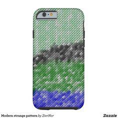 Modern strange pattern tough iPhone 6 case