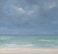 Original Oil Painting  Subtle Sea  12x12 inches  by wendydoakart, $110.00