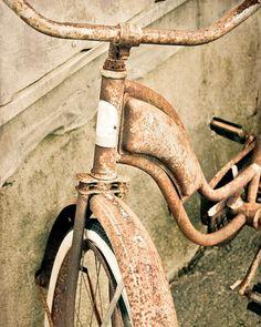Bicycle Vintage Schwinn Rusty Bike by ShadetreePhotography on Etsy, $30.00