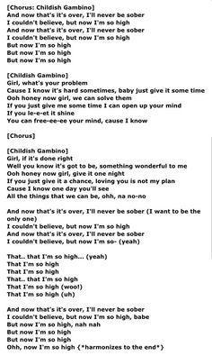 childish gambino lyrics 3005 - photo #20