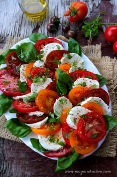 Cooking Recipes, Healthy Recipes, Lunch To Go, Caprese Salad, Mozzarella, Food Dishes, Grilling, Salads, Good Food