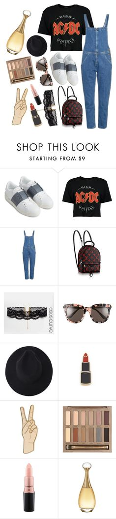 """rock out the denim"" by libil ❤ liked on Polyvore featuring Valentino, Boohoo, M.i.h Jeans, ASOS Curve, Gentle Monster, Georgia Perry, Lucky Brand, Urban Decay, MAC Cosmetics and Christian Dior"