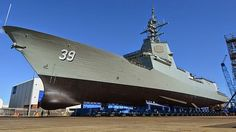 The Hobart class is a ship class of three air warfare destroyers (AWDs) being built for the Royal Australian Navy (RAN). Australian Defence Force, Royal Australian Navy, Navy Air Force, Military News, Navy Man, Army & Navy, Navy Ships, Battleship, World History