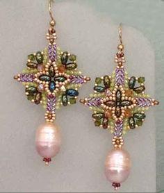 Super Square earrings by Wanda Rivera