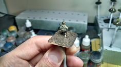 Unbased American BAR gunner for Chain of Command. Sculpting magazine pouches in a bandolier on a 15mm mini is difficult!