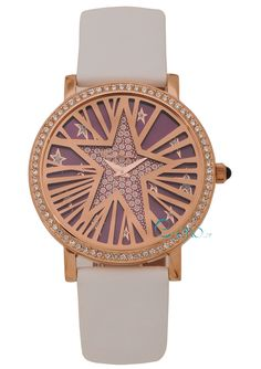 Ladies Watch THIERRY MUGLER Crystals Rose Gold White Leather Strap TM4713403 - E-oro.gr THIERRY MUGLER WATCHES