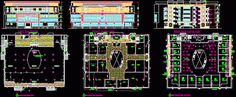 Plan Galerie - centre commercial en dwg
