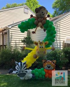 Jungle Theme Parties, Party Themes, Party Ideas, Balloons, Christmas Ornaments, Holiday Decor, Gallery, Inspiration, Safari