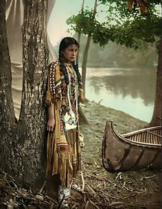 "A photograph of an Indian Maiden. The picture was taken in 1904. I have no information on the photograph, other than it is captioned, ""Minnehaha""."