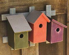 Trellis Trio Birdhouses Traditional