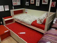 Ikea odda trundle bed with storage headboard