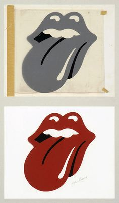 Rolling Stones lips and tongue logo by Jon Pasche, 1970 - Victoria and Albert Museum