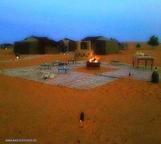 Dune di Merzouga. Tende berbere