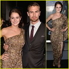 #Shailene Woodley Is Golden Next to Theo James at 'Divergent' Premiere! --- More News at : http://RepinCeleb.com  #celebnews #repinceleb