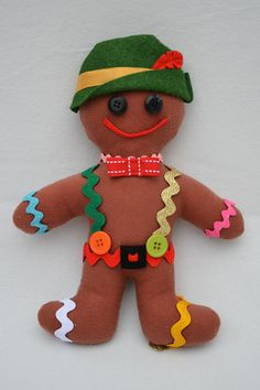 Adorable--dress up a gingerbread man.  For next year's gingerbread man party! #gingerbread #party #christmas