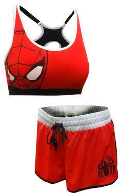 WebUndies.com Spiderman Bra and Boxer Pajama Set