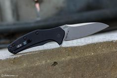 "Zero Tolerance 0770 Assisted Folding 3.25"" Elmax Blade, Anodized Aluminum Handles - KnifeCenter"