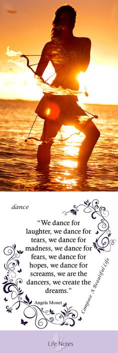 Live life with the passion of a dancer, dance, purple, ocean, fire dance