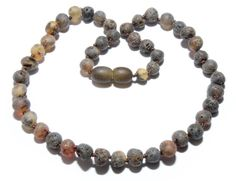 Genuine Raw Baltic Amber Baby Teething Necklace 6.6 g by BLTAmber
