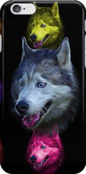 Siberian Husky Dog Art - 6062 - BB by Rateitart http://www.redbubble.com/people/rateitart/works/12907747-siberian-husky-dog-art-6062-bb?p=iphone-case&ref=work_carousel_work_portfolio_1