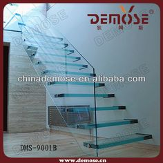 modern glass stainless staircases | Glass Staircase/stair Designs - Buy Indoor Staircase Design,Staircase ...