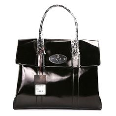 652dd5a0a16f Mulberry Standard Bayswater Patent Leather Shoulder Bag Black Patent  Leather