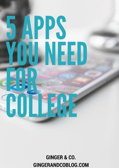5 Apps You Need For College