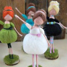 A bouquet of balerinas  Custom orders are welcome in my shop!  #needlefelting #needlefelteddoll #feltart #fiberart #dollmaker #handmadedoll #waldorfinspired #handmadeshop #handmadeisbetter #handmadetoy #giftforher #meseemsdolls #etsyseller #customorder #dollforher #daughtergift #personalisedgift