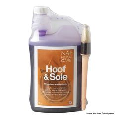 NAF Hoof Sole Applied daily it can dramatically help to reduce cracking harden soft soles and strengthen and disinfect frogs 1 LT.