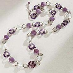 Purple-Beaded-Murano-Necklace
