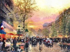 City of Lights by Thomas Kinkade