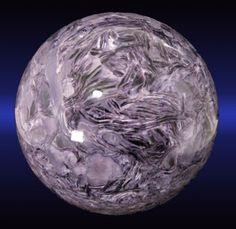 Charoite Sphere from Murunskii Massif, Chara and Tokko Rivers Confluence, Aldan Shield, Saha Republic (Sakha Republic; Yakutia), Eastern-Siberian Region, Russia