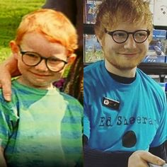 """""""Do you see any difference? Ed Sheeran Ed Sheeran Tattoo, Edward Christopher Sheeran, Ginger Babies, Ginger Boy, Bae, I Love Him, My Love, Celebrities Then And Now, Real Friends"""