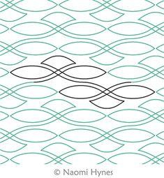 Digital Quilting Design Celtic Sea Pantograph by Naomi Hynes.