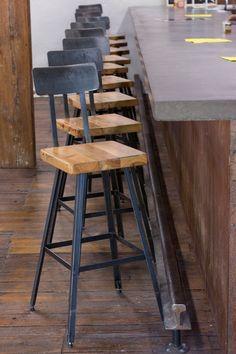 Retro Bar Stools, Rustic Bar Stools, Bar Stools With Backs, Industrial Bar Stools, Modern Bar Stools, Industrial Chandelier, Industrial Bathroom Design, Modern Industrial Decor, Industrial Style