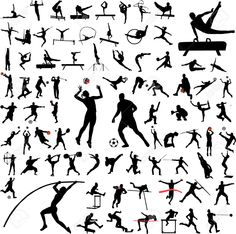 Track And Field Silhouettes Sport silhouettes vector