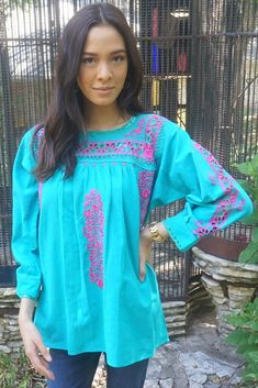 Hand embroidered Mexican Blouse | The LunaMia Collection
