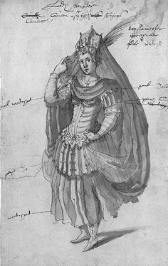 "Inigo Jones / Buontalenti, Queen Candace from  ""The Masque of Queens"",1609"
