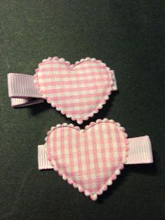 Heart Hair Clippie Set non slip by mycutesies on Etsy, $3.00