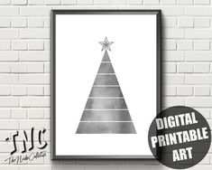Items similar to Watercolor Christmas Tree Print Minimalist Christmas, Modern Christmas, Christmas Home, Watercolor Christmas Tree, Tree Print, Scandinavian Christmas, Christmas Printables, Printable Wall Art, Christmas Decorations