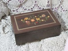 Pretty Flowered  Wooden Jewelry Box by Daysgonebytreasures on Etsy