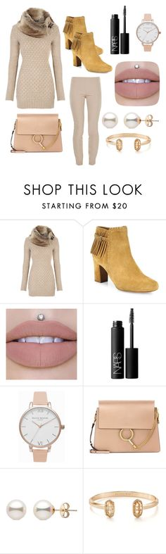 """""""How Lovely"""" by angel-wwe-forever ❤ liked on Polyvore featuring Tabitha Simmons, NARS Cosmetics, Olivia Burton, Chloé, Kendra Scott and The Row"""