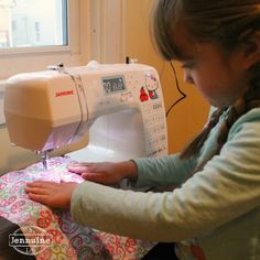 Tiny Sewists: Teaching Kids to Sew :: Lesson 2 | A Jennuine LifeA Jennuine Life